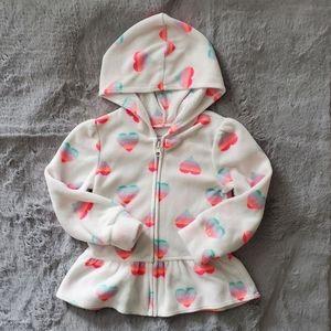 Children's Place Fleece Hearts Sweater Sz 2T